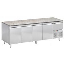 Konditorei Kühltisch, 2490x720x850 mm, 4 Türen, Granit