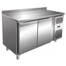 Kühltisch, 1360x600x860 mm, 2 Türen, Aufkantung