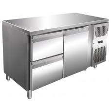 Kühltisch, 1360x600x860 mm, 1 Tür + 2 Schubladen