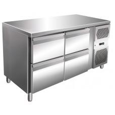 Kühltisch, 1360x600x860 mm, 4 Schubladen