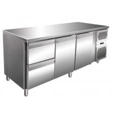 Kühltisch, 1795x600x860 mm, 2 Türen + 2 Schubladen