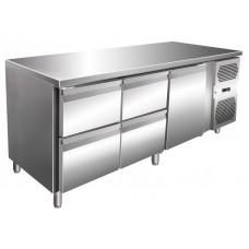 Kühltisch, 1795x600x860 mm, 1 Tür + 4 Schubladen