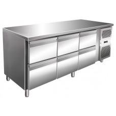 Kühltisch, 1795x600x860 mm, 6 Schubladen
