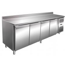 Kühltisch, 2230x600x860 mm, 4 Türen, Aufkantung