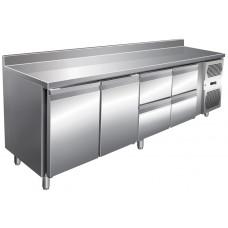 Kühltisch 2230x600x960 mm, 2 Türen + 4 Schubladen