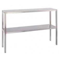 Aufsatzbord, Edelstahl 14301, 1100mm Breite, 2 Etage