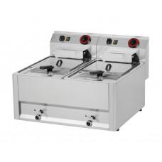 Elektro Fritteuse, 660x600x290 mm, 2x 8-Liter-Becken