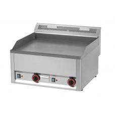 Elektro Griddleplatte, glatt, 660x600x290 mm, Edelstahl
