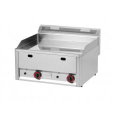 Gas-Griddleplatte, glatt, 660x600x290 mm, verchromt