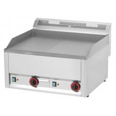 Elektro Griddleplatte, glatt / gerillt, 660x600x290 mm
