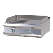 Elektro Griddleplatte, glatt / gerillt, 800x730x300mm