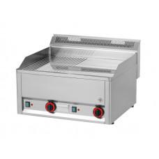 Elektro Griddleplatte, 660x600x290 mm, gerillt / glatt,