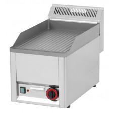 Elektro Griddleplatte, gerillt, 330x600x290mm, Edelstahl