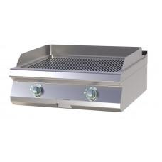 Griddleplatte, Gas, 800x730x300 mm, gerillt