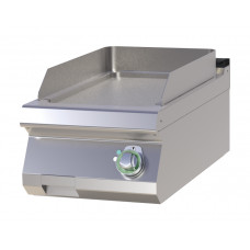 Griddleplatte Gas, Tischgerät, 400x730x300 mm, gerillt
