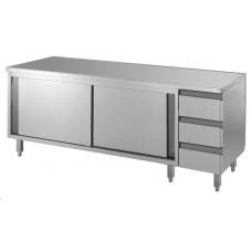 Arbeitsschrank mit Schubladenblock 1800x600x850, Edelstahl
