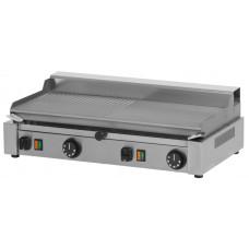 Griddleplatte Elektro, glatt / gerillt, 592x322x182mm