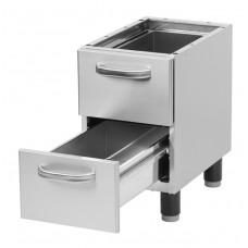 Untergestell mit 2 Schubladen, 330x530x570-630 mm