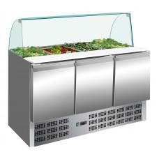 Saladette mit Glasaufsatz