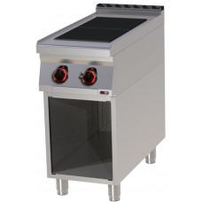 Elektroherd mit offenem Unterbau, 400x900x900 mm, 2 Platten