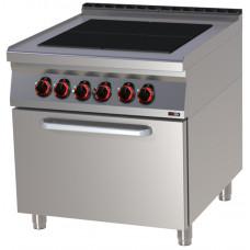Elektroherd mit Backofen, 800x900x900 mm, 4 Platten