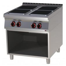 Elektroherd mit offenem Unterbau, 800x900x900 mm, 4 Platten