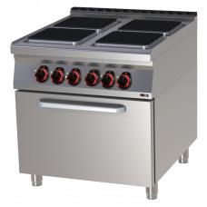 Elektroherd Umluftbackofen, 800x900x900 mm, 4 Platten