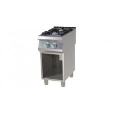 Gasherd mit Unterbau, 400x730x900 mm, 2 Gusseisenbrenner