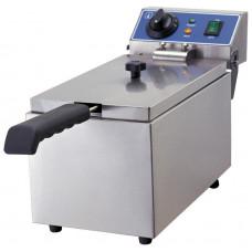 Fritteuse, Elektro, 190x440x270 mm, 1 Becken, 6 Liter