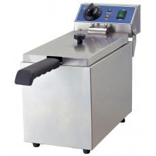 Fritteuse, Elektro, 190x440x320 mm, 1 Becken, 8 Liter