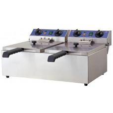 Doppel-Fritteuse, Elektro, 590x440x285 mm, Edelstahl