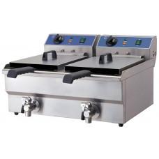 Doppel-Fritteuse, Elektro, 570x460x325 mm