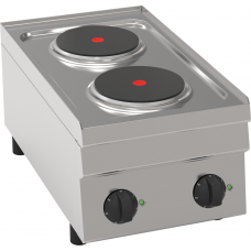 Elektro-Kochfläche mit 2 Kochplatten Tischgerät