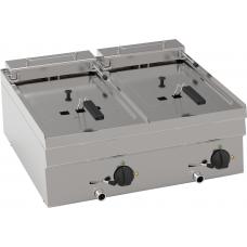 Elektro-Fritteuse 2x 8 Liter Becken - Tischgerät