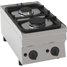 Gas-Kochfläche mit 2 Brenner Tischgerät
