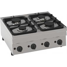 Gas-Kochfläche mit 4 Brenner Tischgerät