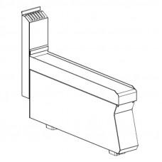 Neutralelement 100 mm breit  ohne Schublade
