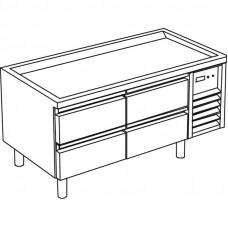 Kühl-Unterbau mit 4 Schubladen ohne Arbeitsplatte