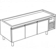 Kühl-Unterbau 3 Türen ohne Arbeitsplatte