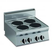 Elektro-Kochfläche mit 4 rundenPlatten Tischgerät