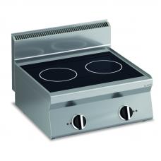 Induktions-Kochfläche mit 2 Platten   mit 2 Platten Tischgerät