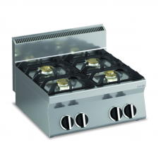 Gas-Kochfläche 4 Brenner Tischgerät