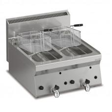 Gas Fritteuse 2 x 8 lt.  Tischgerät