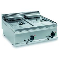 Elektro-Fritteuse Auftischgerät 2 x 8 Liter Becken