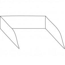 Spritzschutz für Grillplatten mit 80 cm Breite