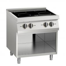 Induktions-Kochfläche 4 Platten offener Unterbau