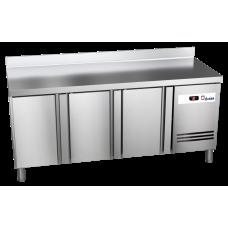 Tiefkühltisch Ready TKT3610 mit Arbeitsplatte und Aufkantung 3 Türen
